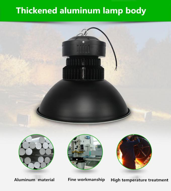 Cool White Round Industrial High Bay LED Lighting 200 W Energy Saving