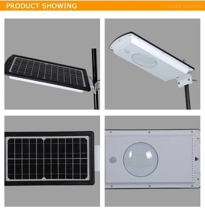 9V 8W Park Exterior Solar LED Lights Waterproof All In One Solar Panel
