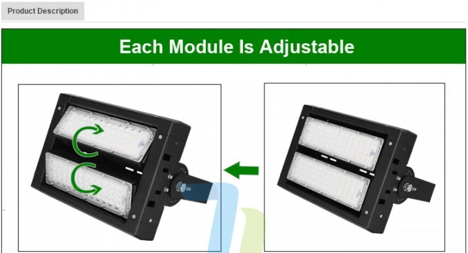 Adjustable Led Flood Light Outdoor Security Lighting 3000K For Airport High Way