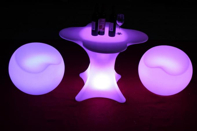 Illuminated Led Light Furniture Apple Shape Chair Cocktail Full Color Changing