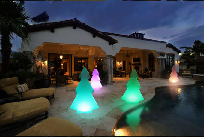 Outdoor Led Light Up Furniture Decorative Plastic Led Tree  2-4 Mm Thickness