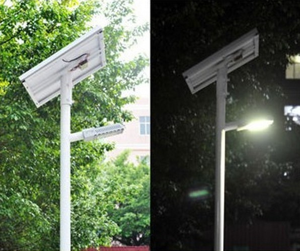 12 Volt All In One Solar Led Street Light 24W Intelligent PWM Dimming Solar Controller