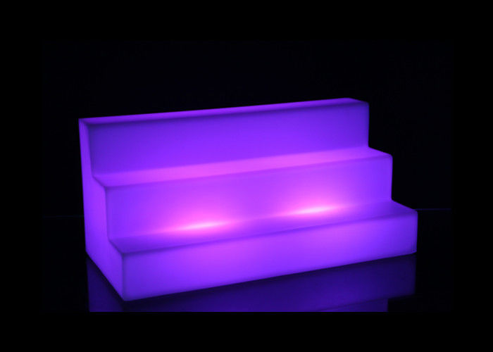 Three Layers Lighted Bar Shelves Plastic Led Bottle Stand High Grade