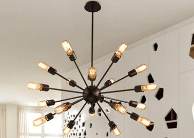 China Multi - Head LED Downlight Ceiling Light Large Wrought Iron Pendant Lighting Kitchen factory
