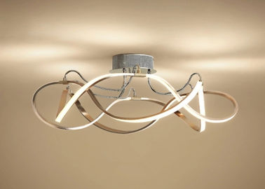 China 3d Long Strip Led Ceiling Light Fixtures Residential Gorgeous Decoration factory